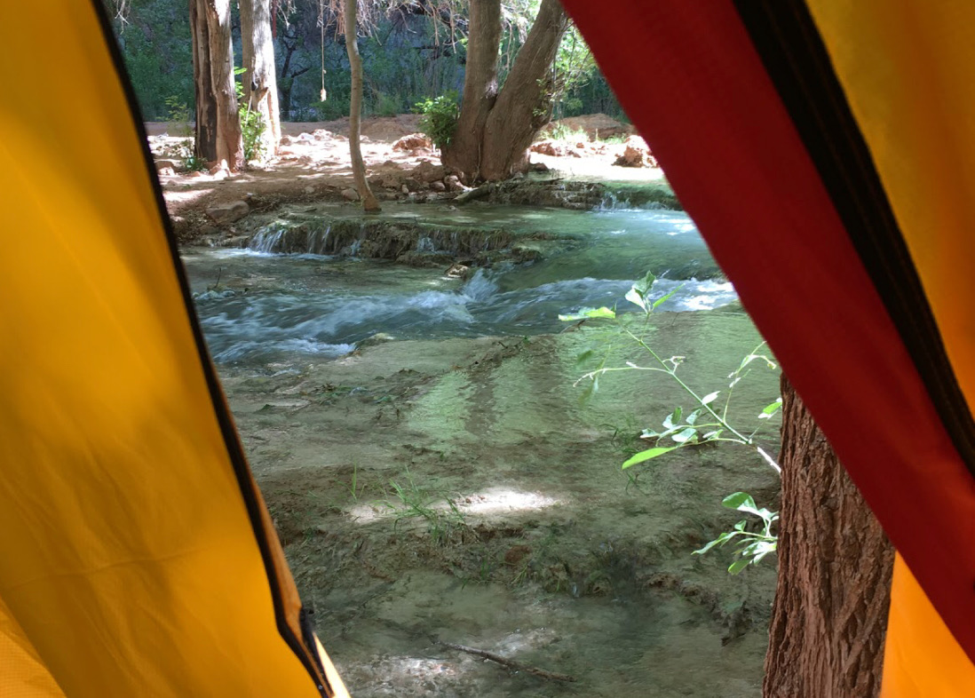 View of the river from my tent. I loved falling asleep to the sound of the water.