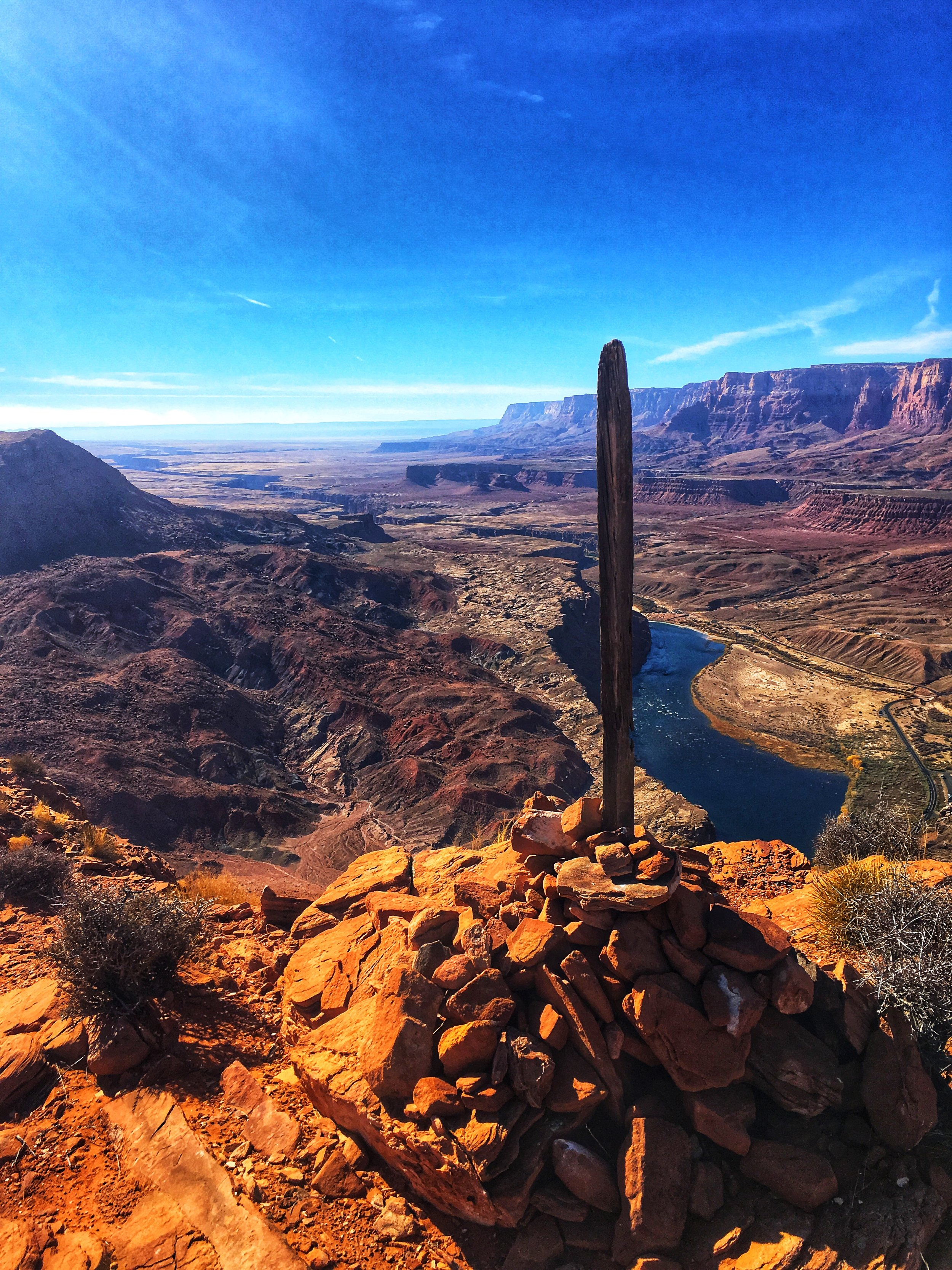 A view of the Colorado River from Spencer Trail, Lee's Ferry, Arizona