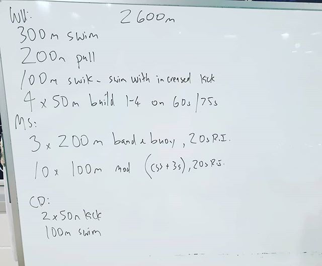 Todays session.  Work on  under water technique, keep stroke long and even.  #coach #triathlontraining #triathlon #tricoach #swim #motivated #swimcoach #swimming #tri #ilovecoaching