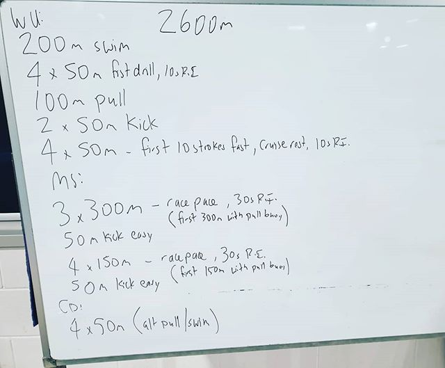 Hey team, this weeks session. A great session to work on a consistent pace. The temptation will be to go faster on the 150m, try to hold it through these.  The pull buoy helps simulate a wetsuit for those with low leg position.  #coach #triathlontraining #triathlon #tricoach #swim #motivated #swimcoach #swimming #tri #wetsuit #swimpractice