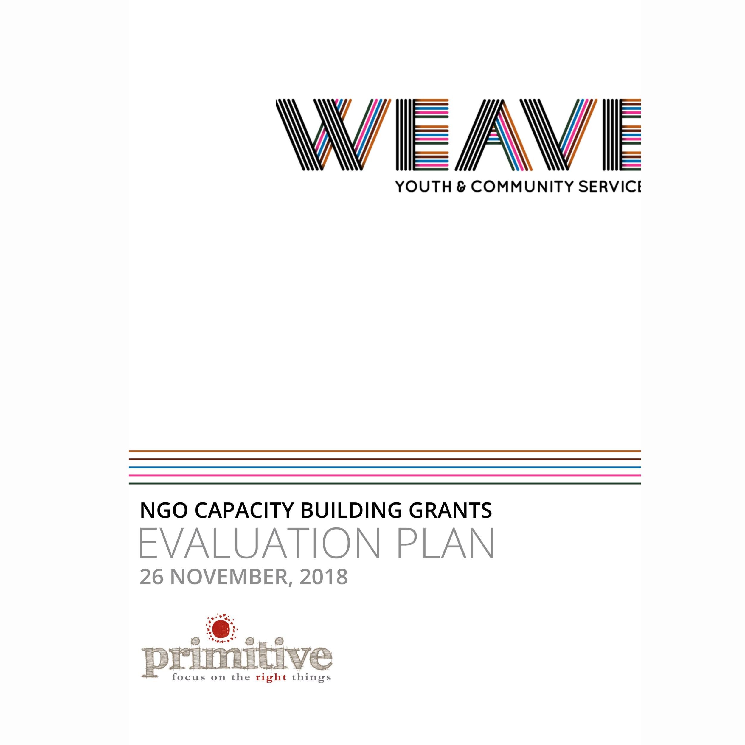 Weave Speak Out Dual Diagnosis Program economic evaluation plan