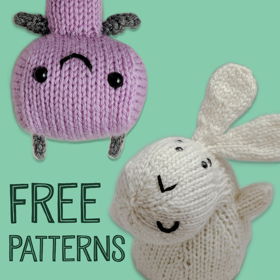 The Rabbit and The Robot PDF Knitting Patterns  FREE DOWNLOAD