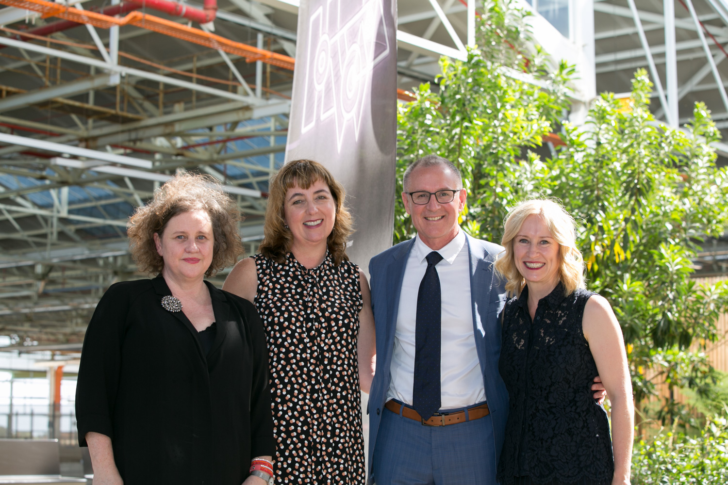Amanda Duthie - CEO of Adelaide Film Festival, Janet Gaeta - Creative Director of Hybrid World Adelaide, Premier of South Australia Jay Weatherill and Sandra Sdraulig - Chair of Adelaide Film Festival_Web.jpg