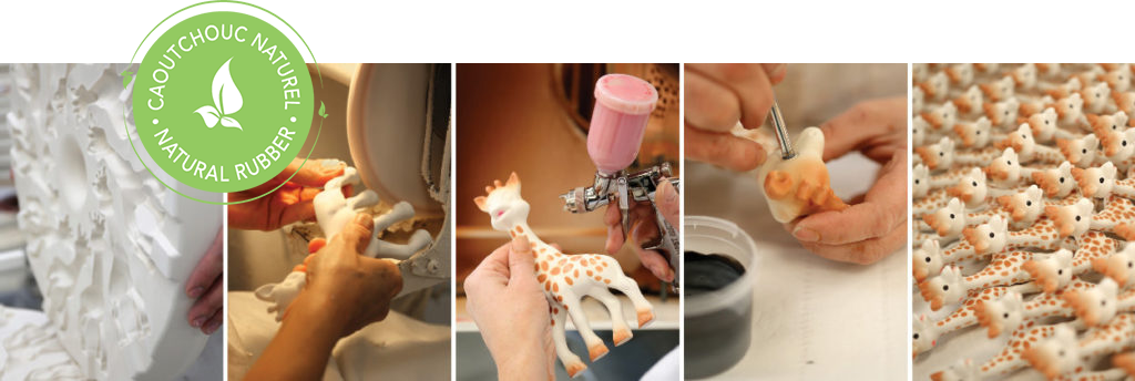 The manufacturing process for Sophie la Girafe