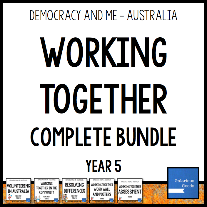 Year 5 Civics and Citizenship Bundle looking at volunteering, Community participation and conflict resolution