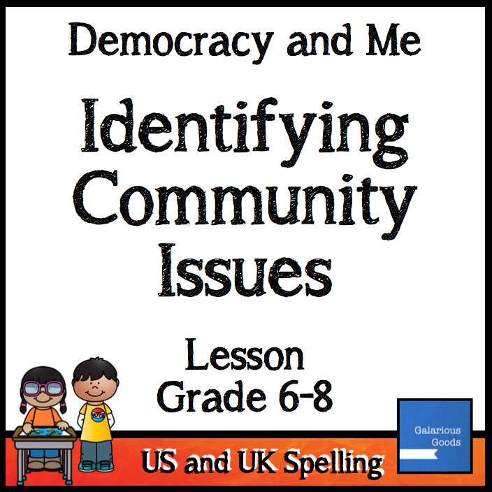 Student use comprehension and government skills to identify issues in the community