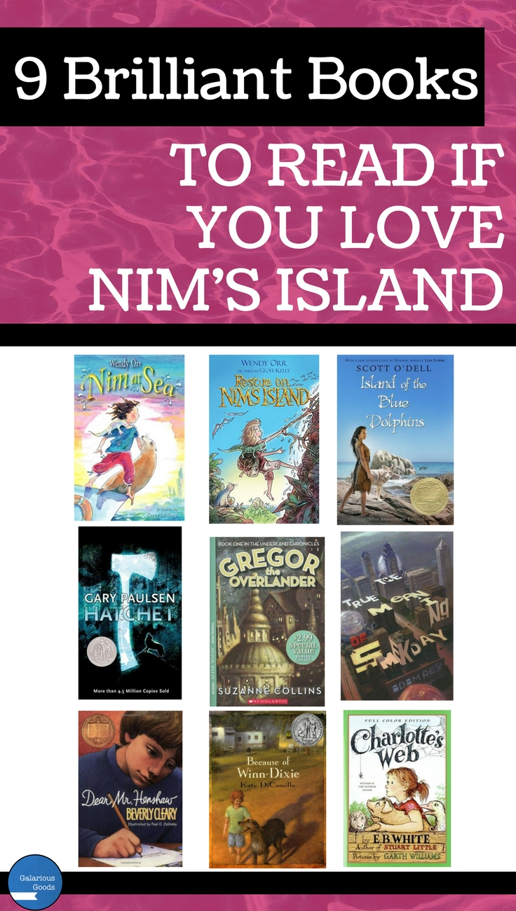 9 Brilliant Books to Read if You Love Nim's Island by Galarious Goods. Nine book recommendations and some ways to use them in the classroom