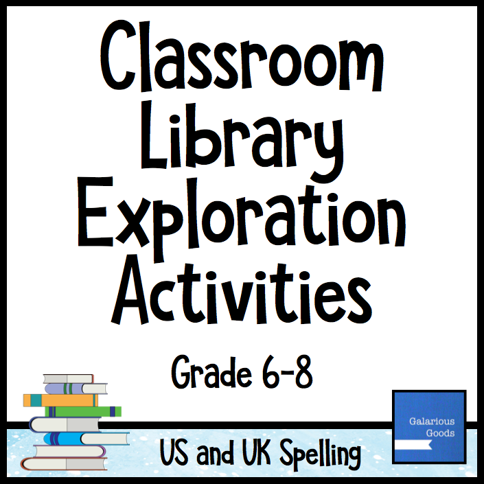 Classroom Library Exploration Activities by Galarious Goods