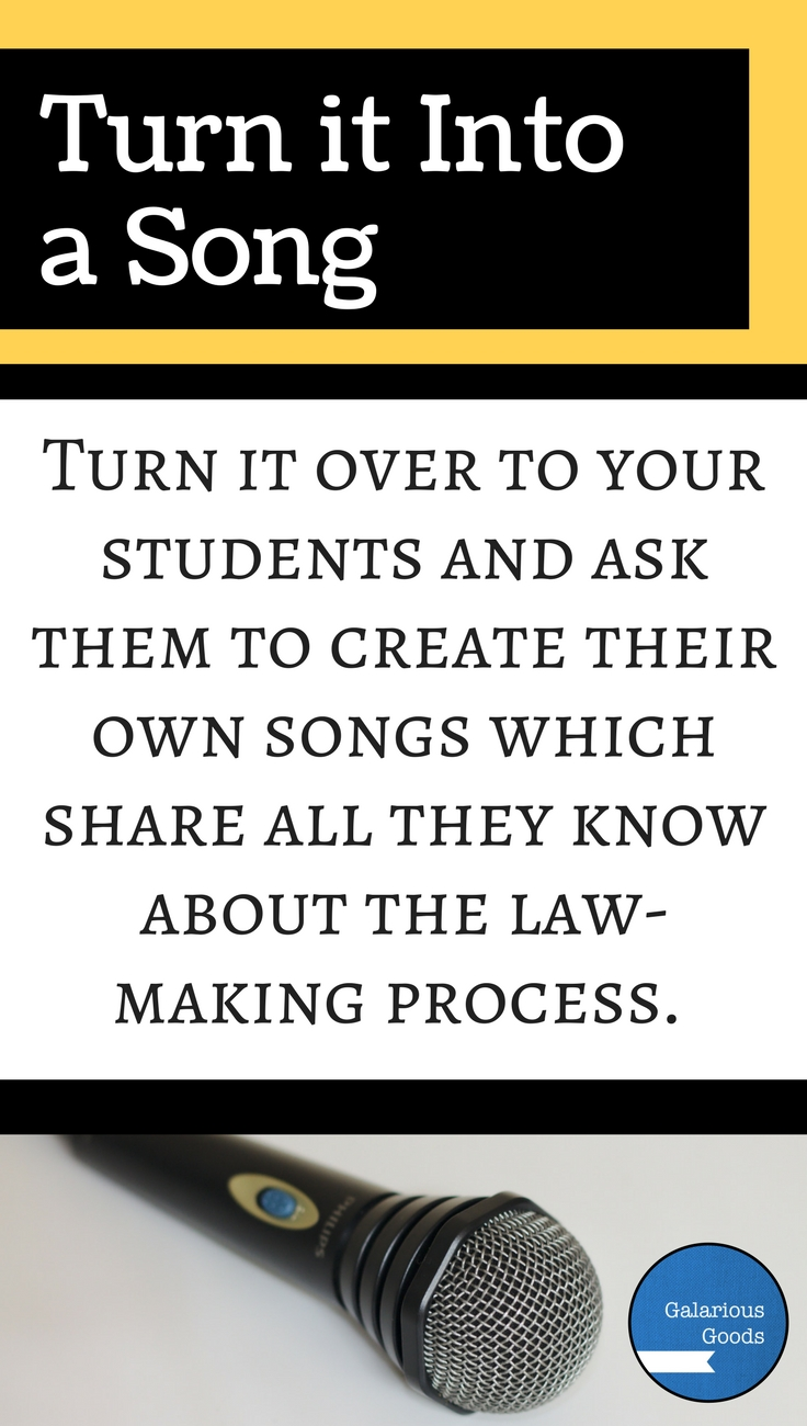 Turn it Into a Song - High Interest Ways to Make Law-Making Lessons Fun
