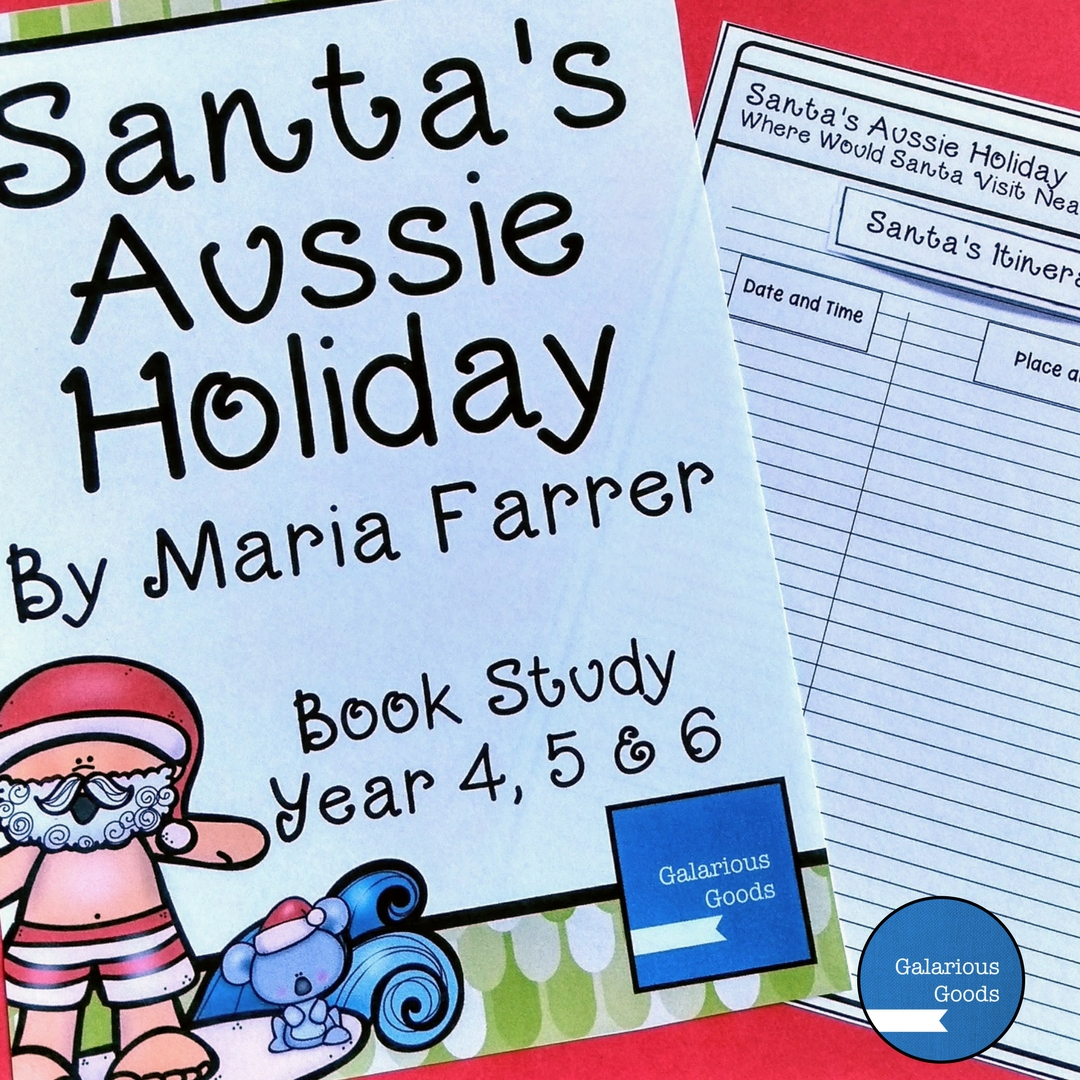 Santa's Aussie Holiday by Galarious Goods