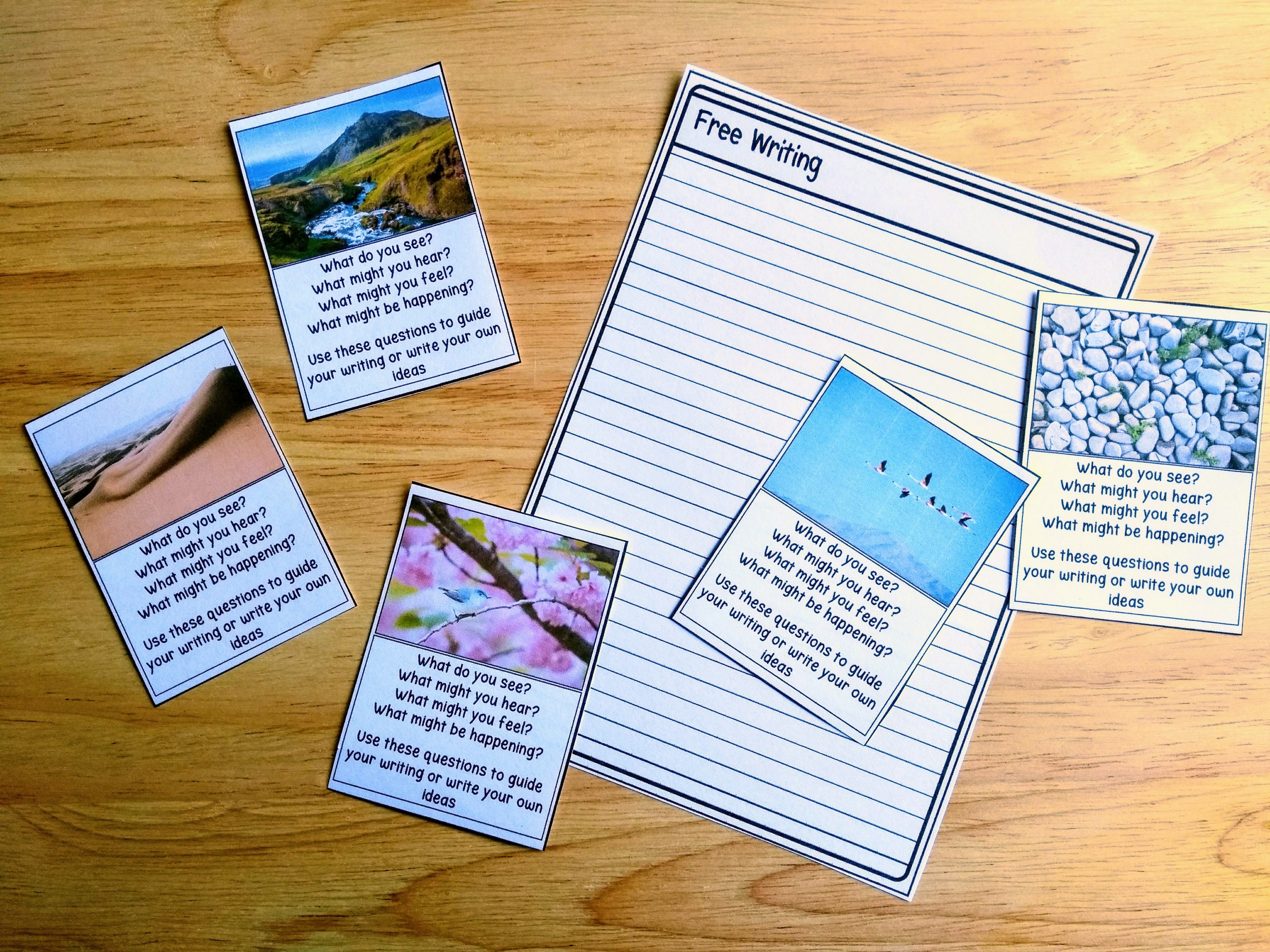 Freewriting picture prompt cards available from Galarious Goods. Perfect for writing teachers exploring freewriting
