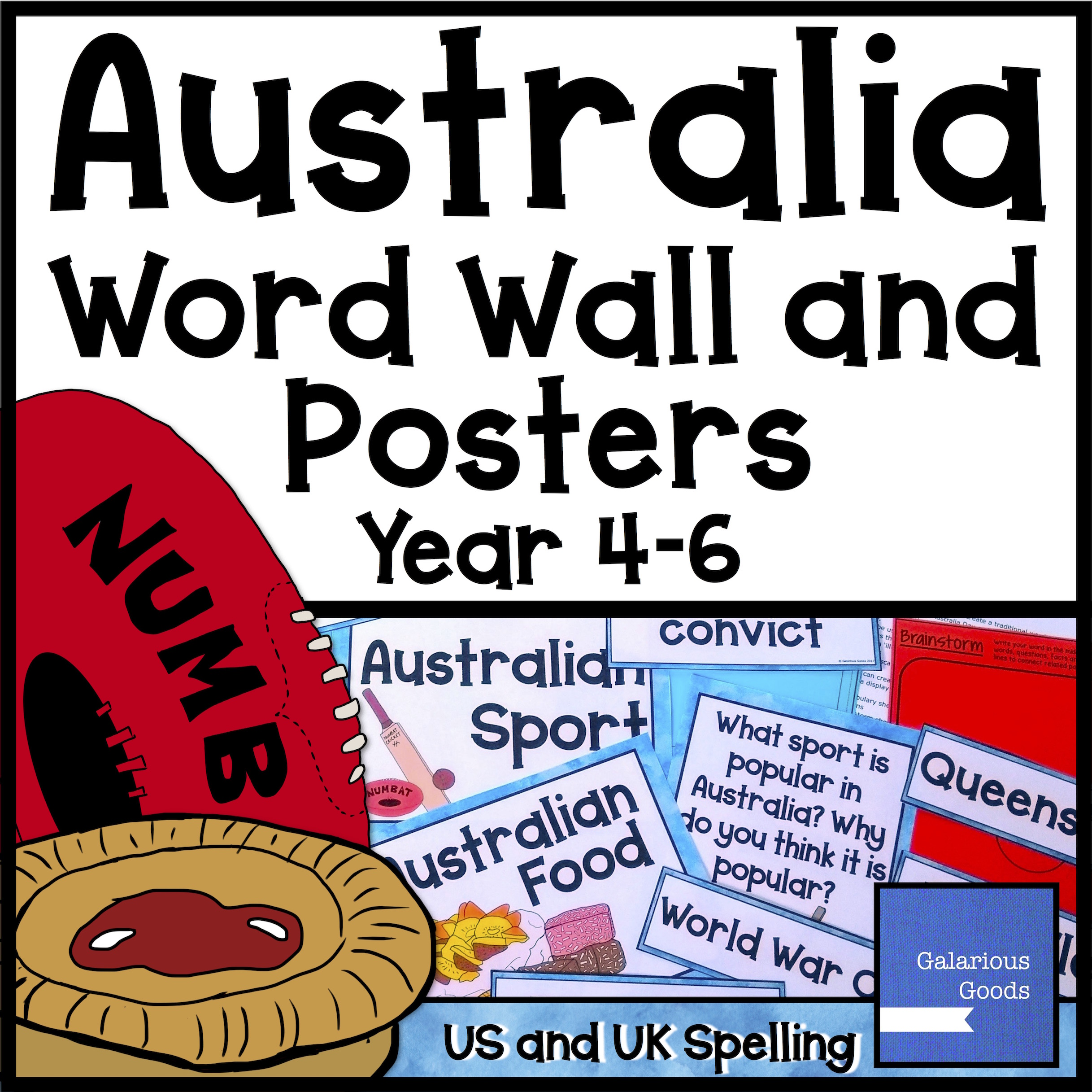 Australia Word Wall and Posters from Galarious Goods