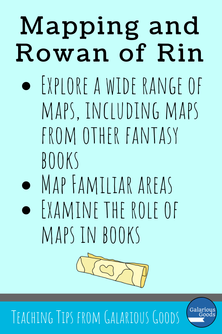 Mapping and Rowan of Rin. Exploring some of the ways mapping can be explored in the classroom when you're teaching Rowan of Rin by Emily Rodda with your class. A Galarious Goods blog post