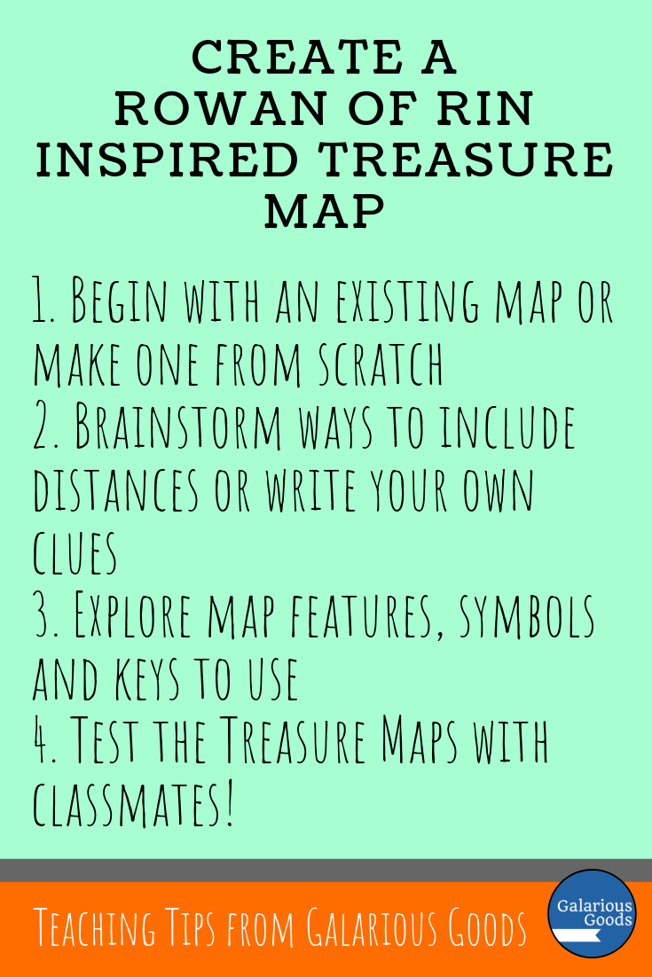 Looking to take Rowan of Rin outside the classroom? Try creating treasure maps inspired by the map in Rowan of Rin by Emily Rodda. A Galarious Goods blog post