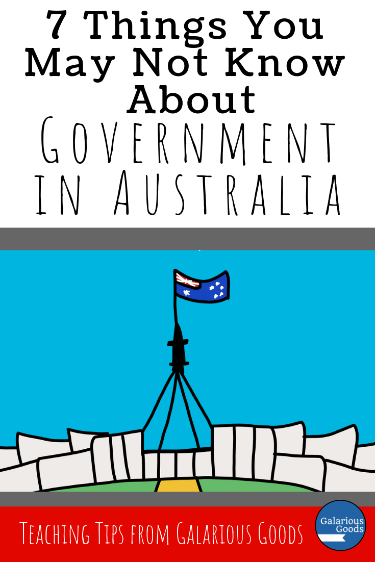 7 Things You May Not Know About Government in Australia. A sneak peek into the government systems of Australia - perfect for social studies and government classes around the world. A Galarious Goods blog post