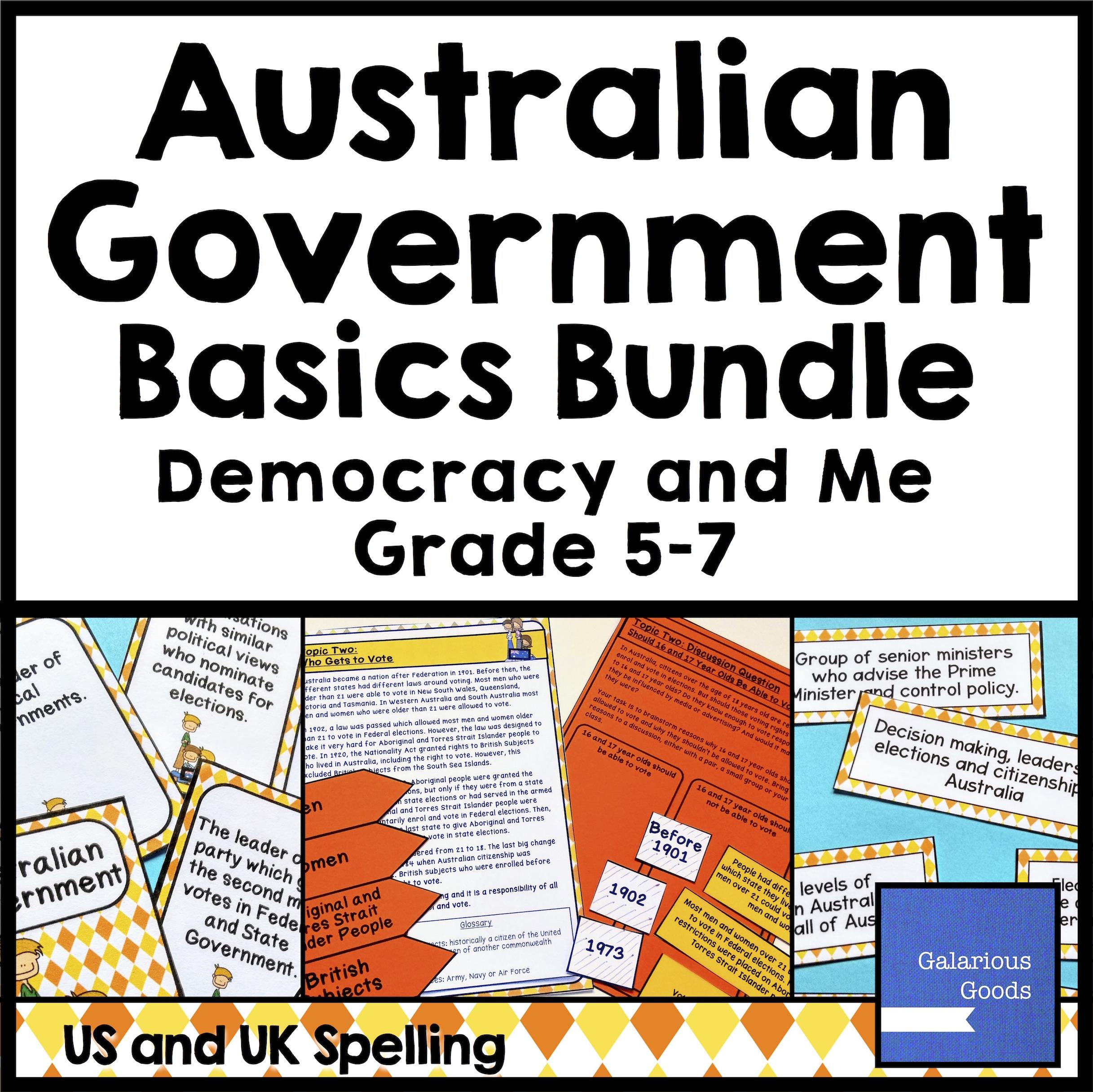 Australian Government Basics from Galarious Goods
