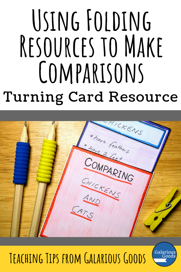 3 Ways Students Can Use Folding Resources to Make Comparisons. Explore these three different types of interactive notebook folding resources perfect for students to create comparisons on different topics. A Galarious Goods Blog Post