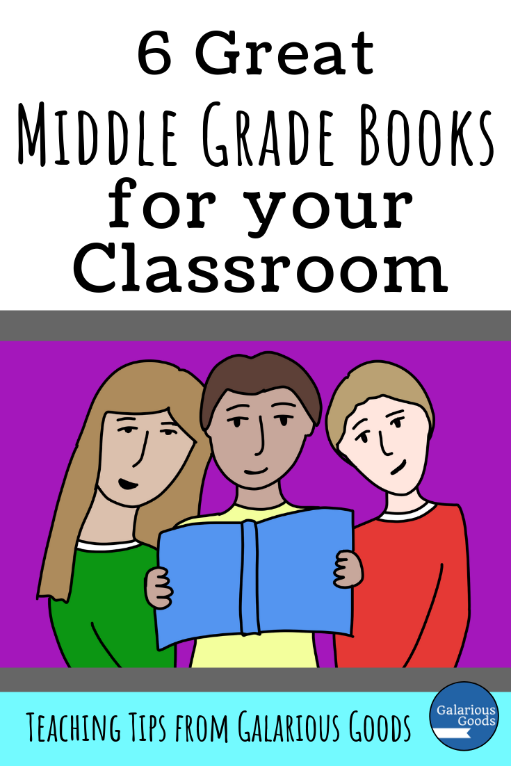 6 Great Middle School Books for Your Classroom. A look at 6 books perfect for 5th, 6th and 7th grade students. A Galarious Goods blog post