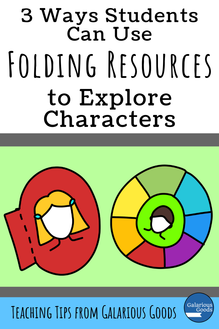 3 Ways Students Can Use Folding Resources to Explore Characters. An exploration of interactive notebook resources for book studies and more. A Galarious Goods Blog Post