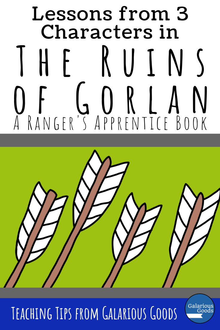Lessons from 3 Characters in The Ruins of Gorlan - a look at the first Ranger's Apprentice book by John Flanagan and potential discussion topics to use in the classroom. A Galarious Goods blog post.