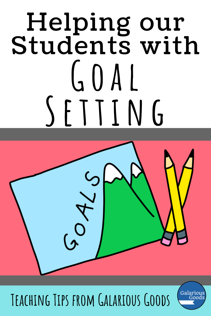 Helping our students with goal setting. A back to school, goal setting blog post from Galarious Goods