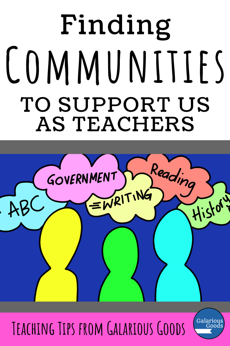 Finding Communities to Support Us as Teachers. An exploration of the importance of teaching communities and an invitation to join a new Australian/New Zealand teaching community. A Galarious Goods blog post