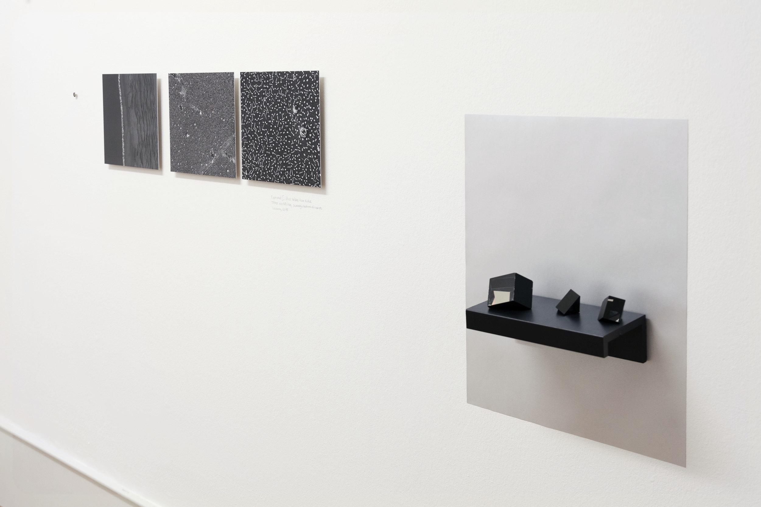 Alessia Olivieri,  In collaboration with the sun , Vue d'exposition, Prix Photoforum 2017 , Photoforoum Pasqaurt, Biel/Bienne, Décembre 2017