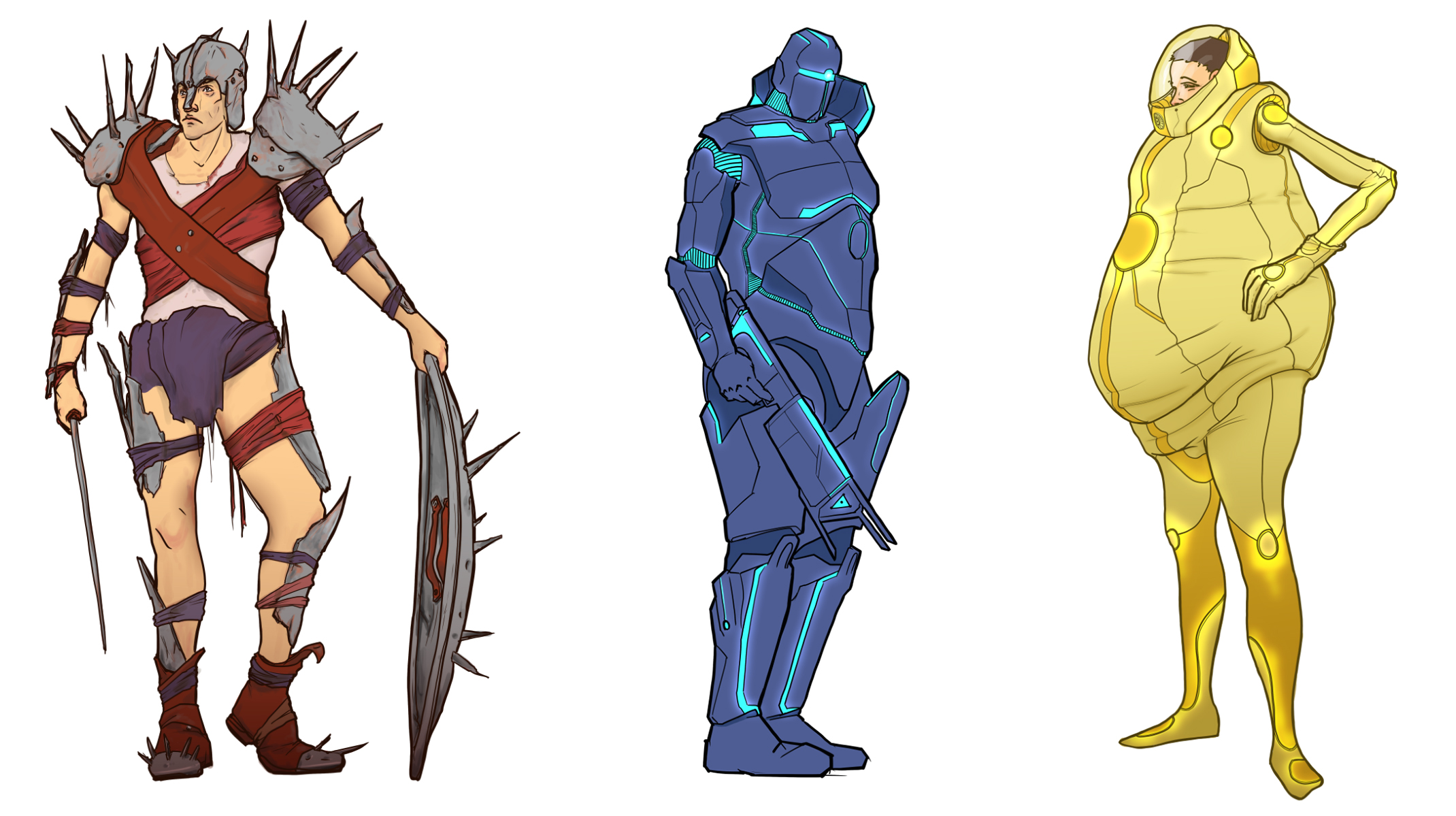 Concept art for the Tribes, the Garrison and the Arrived