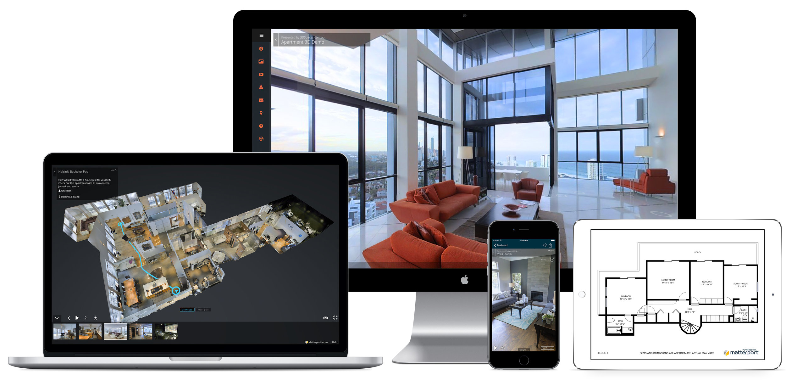 Matterport 3D Interactive Tour and Full Suite - Keep buyers looking at your listing longer to have them remember your home easier. Stand out amongst thousands of listing photos with a personalized webpage for your home with a full suite of visuals such as dollhouse view, floor plans with measurements, and 3D interactive tour with VR and 4k capabilities. Click the image below for a sample interactive tour! All imaging is completed only by professionals - Experts hired and overseen by your listing agent.