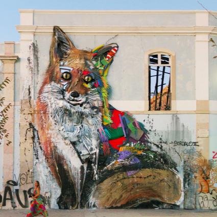 Bordalo II     Ses animaux en relief créés à partir d'objets recyclés, font la beauté des rues de Lisbonne     Os seus animais em relevo criados a partir de objetos reciclados, dão beleza ruas de Lisbonne