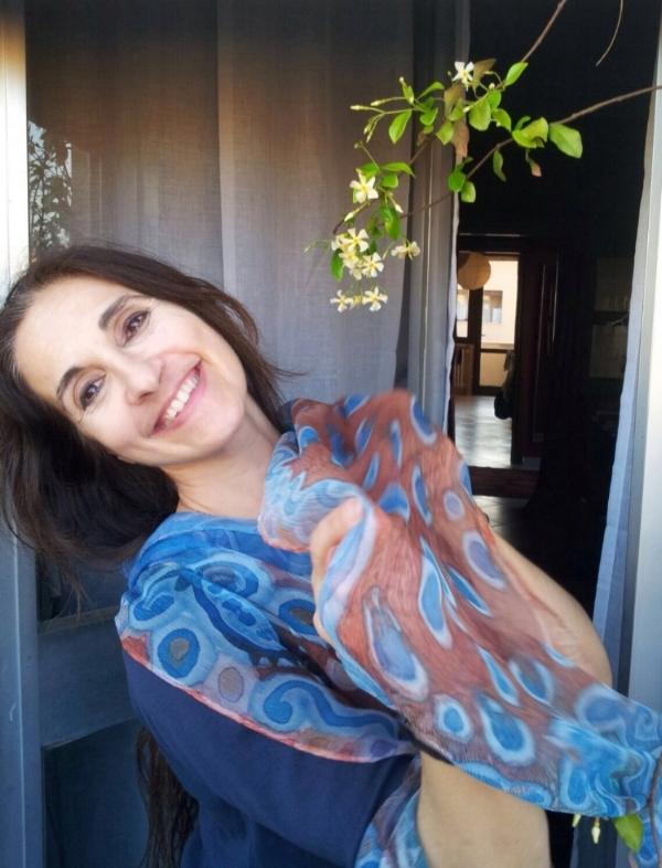 Ballerina Daniela Maccari with her shawl
