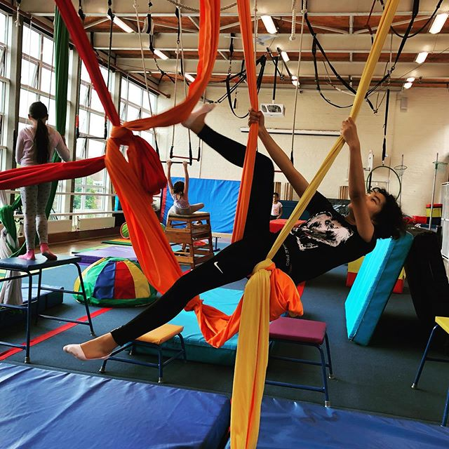2 more days of youth summer school. Today we will do another aerial obstacle course! It's challenging, strength building and fun.  All classes are back on from 7 September. #londonyouth #youthactivities #londonclasses #londoncircus #aerialclasses #silksclasses #trapezelondon