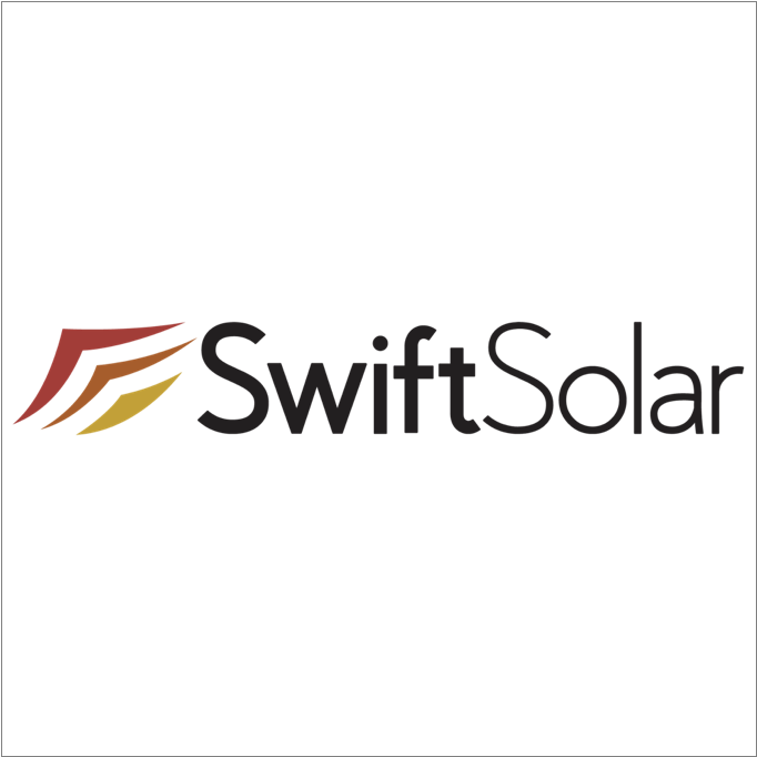 SWIFT SOLAR   Solar technology, Renewable energy   Swift Solar is a U.S. startup developing lightweight perovskite solar panels that are more efficient and more affordable than conventional panels.  Swift's core technologies range from new solar cell architectures to specialized manufacturing techniques initially developed in the labs at Stanford and MIT.