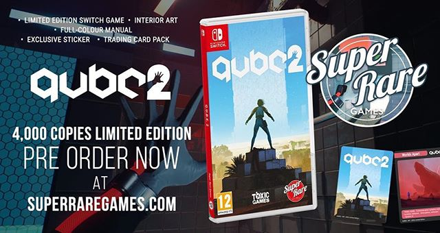 Q.U.B.E. 2 has become Super Rare Games' quickest selling title. That being said, if you planned on adding it to your collection, do it now to avoid missing out!  Superraregames.com