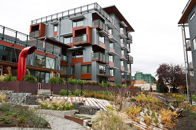 Greenfire Campus , designed to achieve LEED Platinum, has extensive open areas.