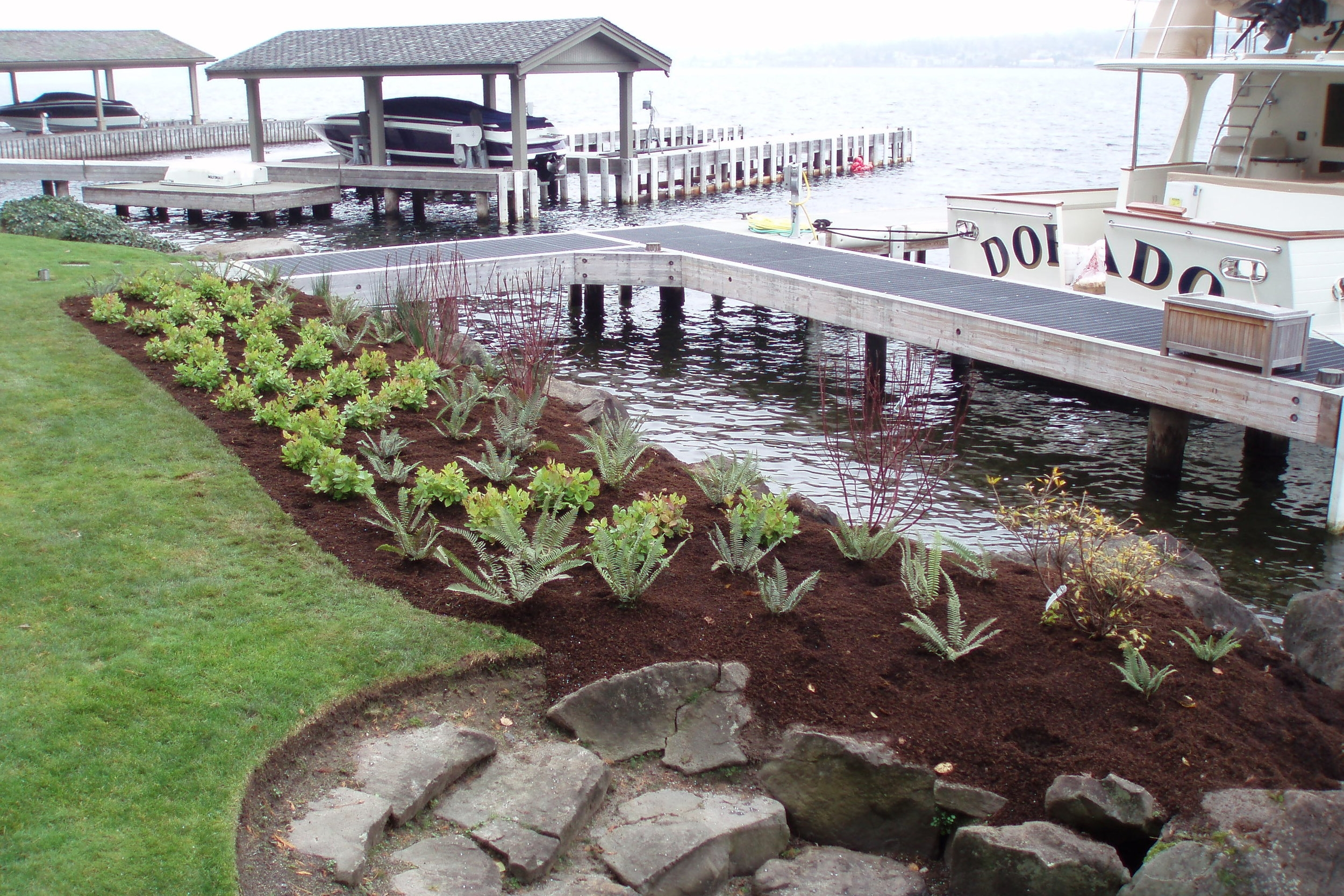 The Watershed Company provides residential shoreline design to private clients across Washington.