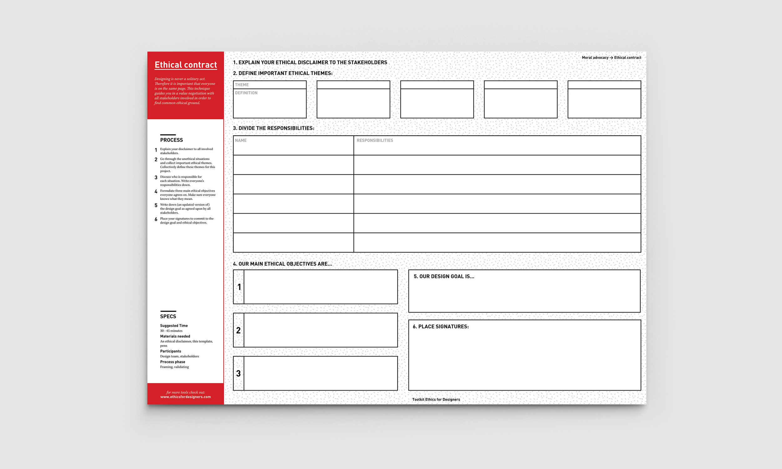 Empty ethical contract template