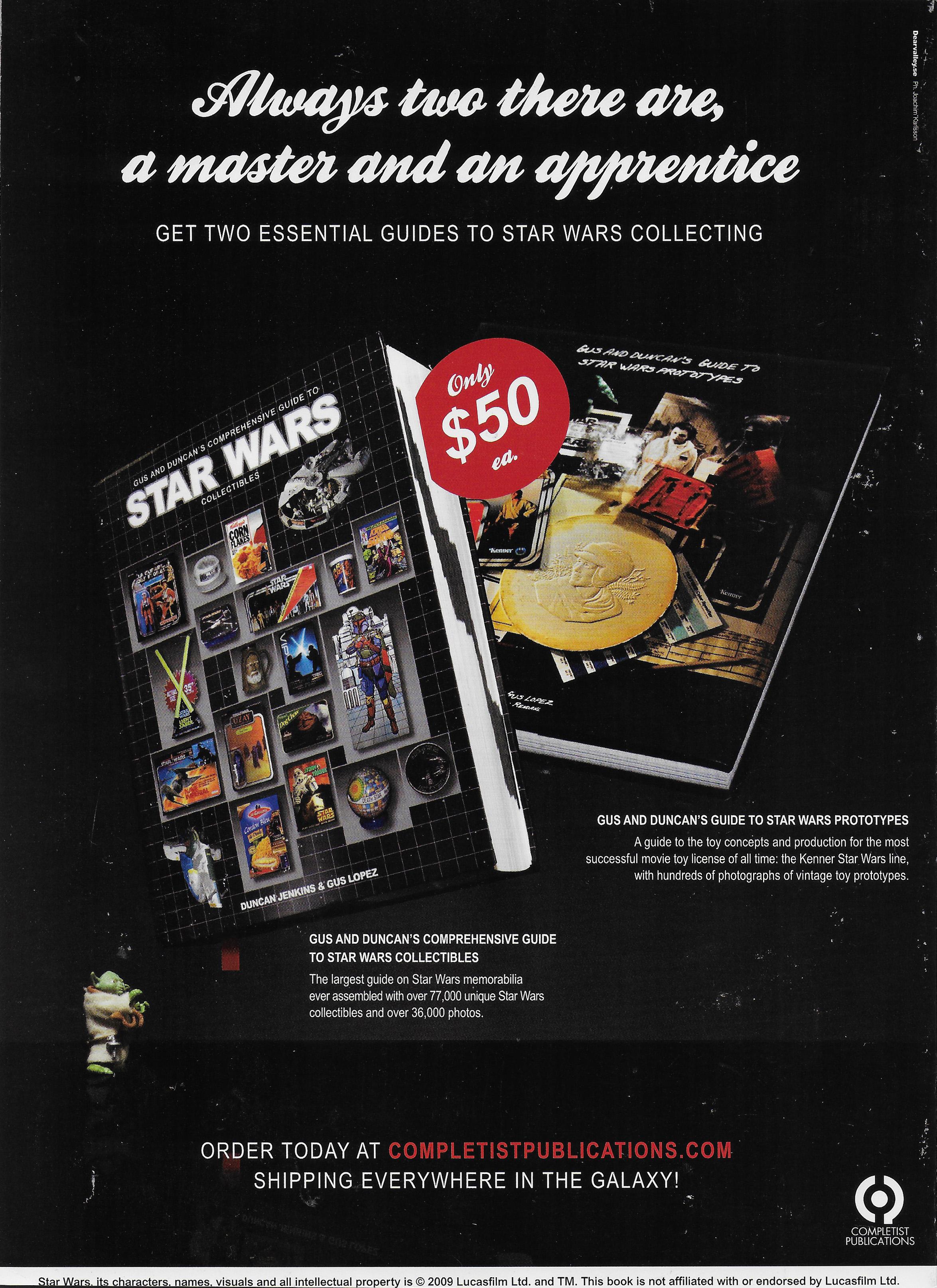 Annons för två böcker till internationella officiella Star Wars Insider magasinet...