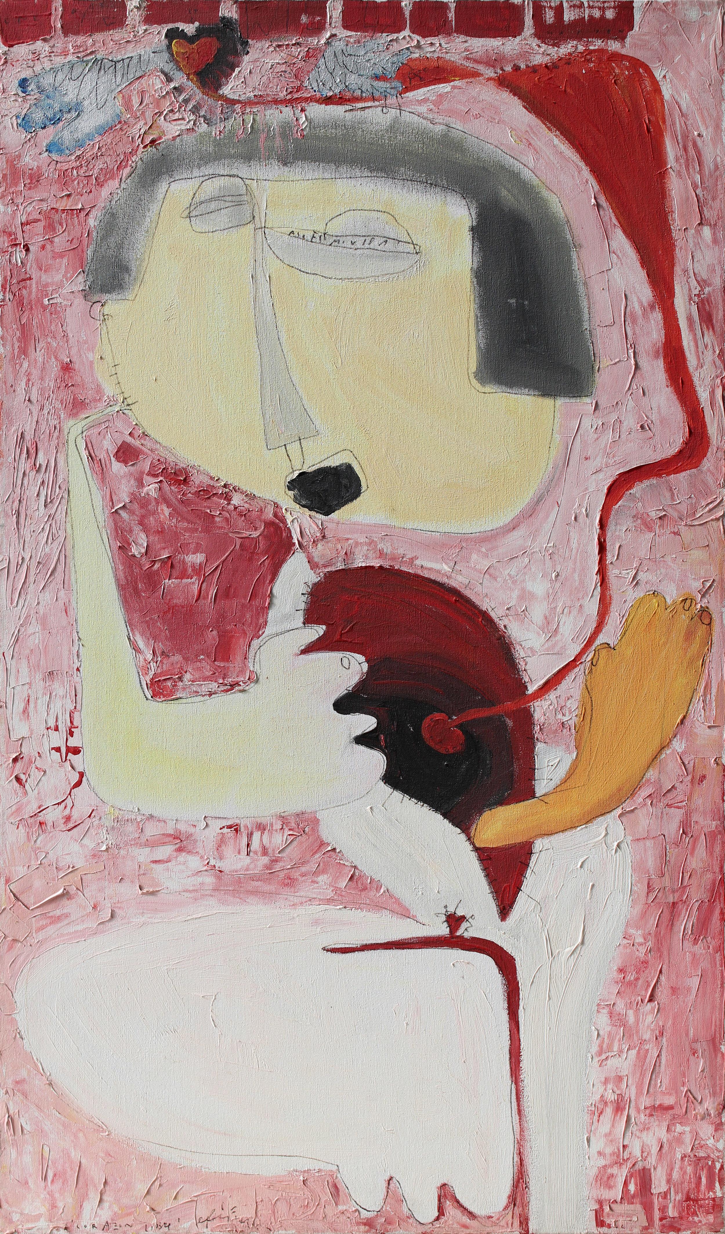 corazon libre (1998) Acryl und Marker auf Leinwand 70,5 x 120 cm