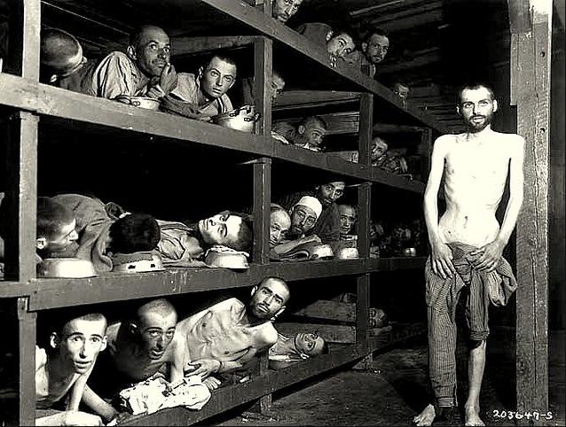 Buchenwald concentration camp , 1945