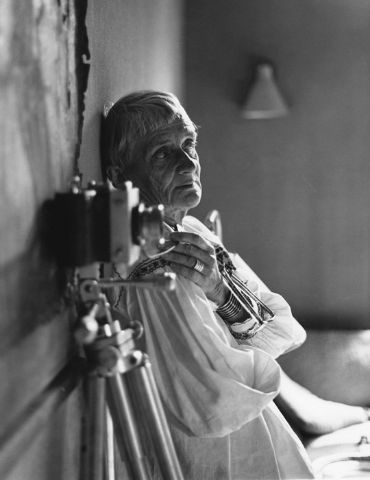 Dorothea Lange in her Bay Area home studio , 1964. Photo: ©1964, 2014 Rondal Partridge Archives