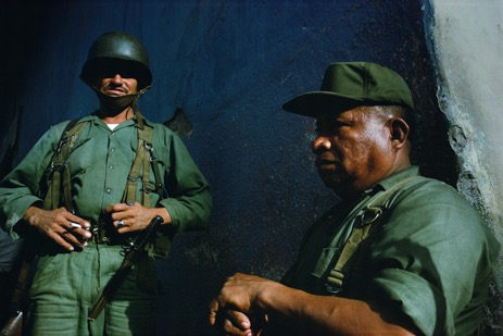 National Guard on duty . Matagalpa, 1978