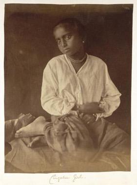 Unknown Girl , Ceylon, 1875-1889. Albumen Silver Print.