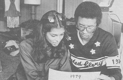 Jeanne Moutousammy-Ashe and Arthur Ashe ( source )