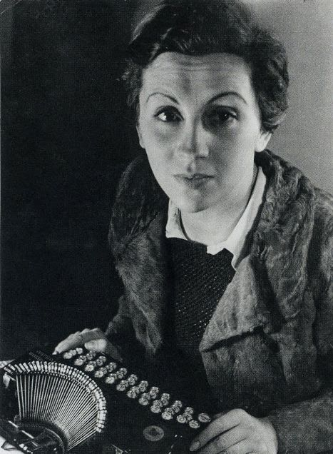 Gerda Taro  photographed by   Fred Stien