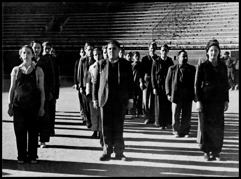 Recruitment and training of the new People's Army . March 1937. Valencia, Spain.