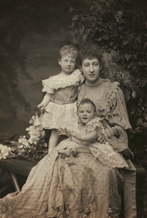 Princess Alexandra, Princess Arthur of Connaught; Princess Louise, Duchess of Fife; Princess Maud, Countess of Southesk by Alice Hughes, 1894