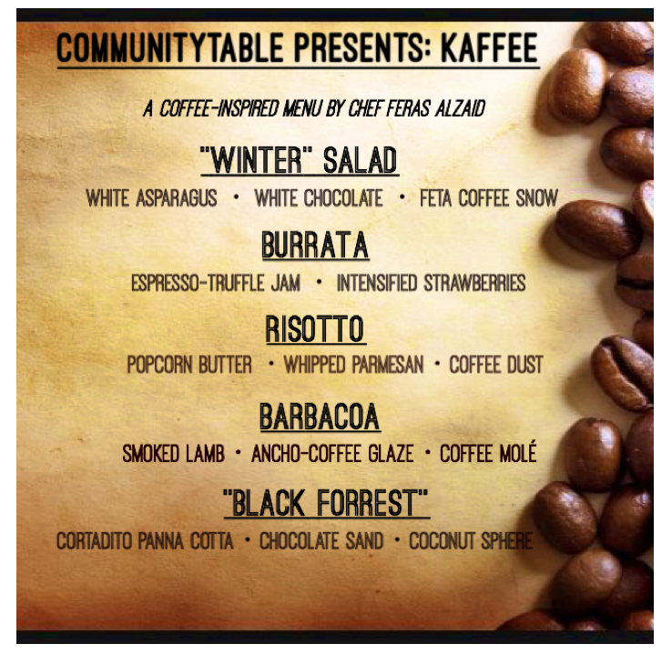 kaffee-menu