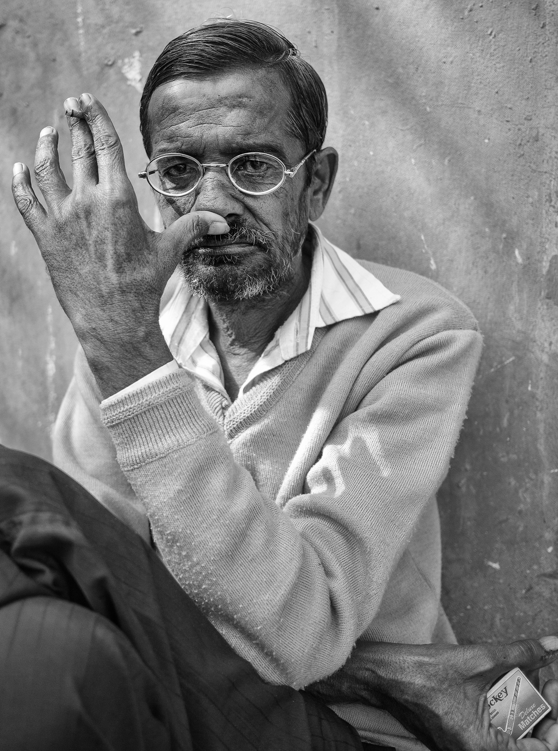 pensive smoker, jaipur