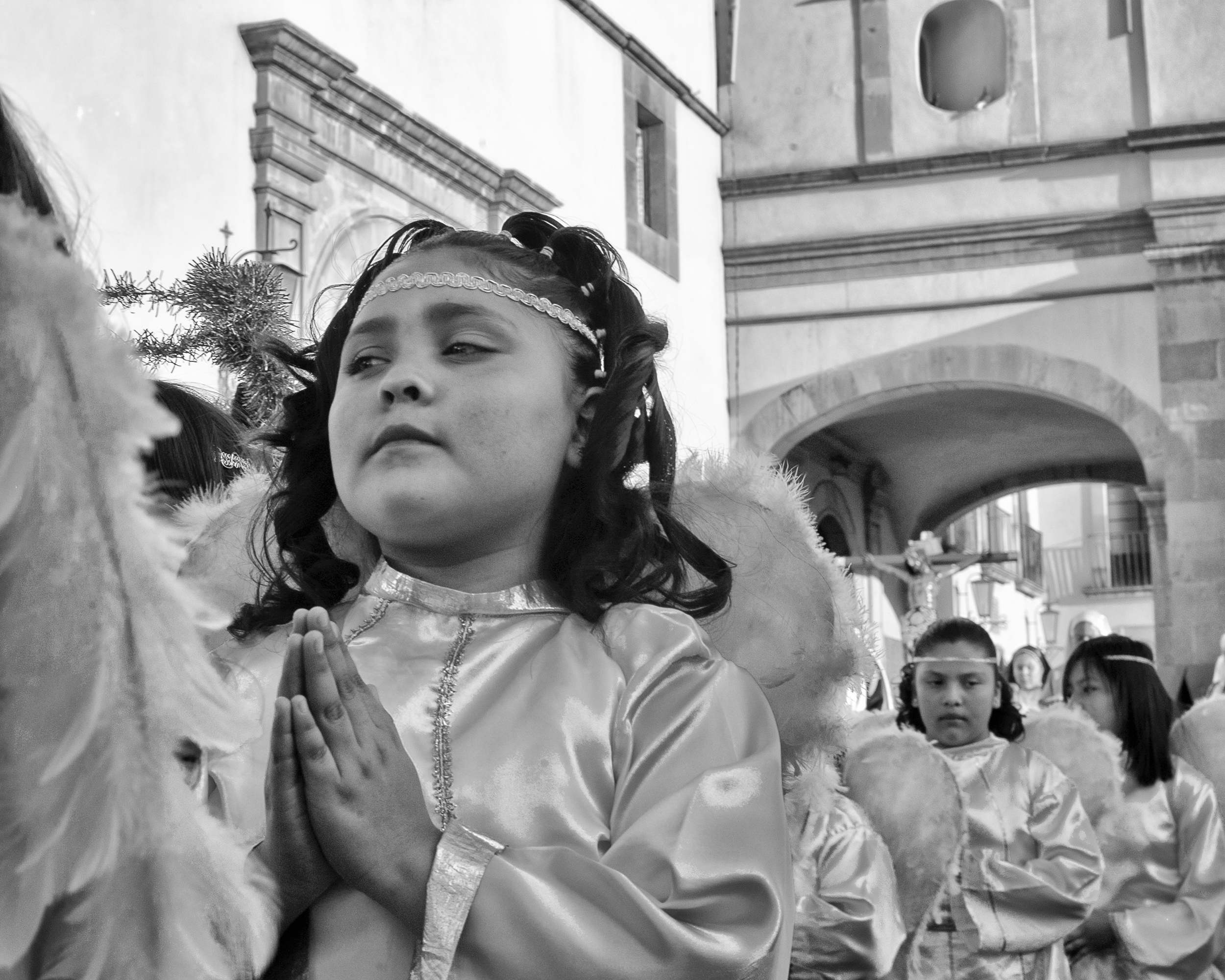 angel procession, queretaro